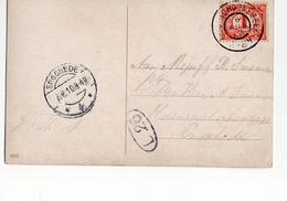 Enschede Langebalk 4 - Oud Schoonebeek Grootrond - 1910 - Postal History