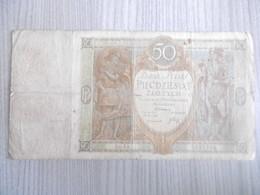 POLOGNE-BILLET 50 ZLOTYCH 1929-ayant Bien Circulé/petite Tache Et Coupure Centrale - Pologne