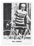 CARTE CYCLISME MARC DESMET TEAM HERTEKAMP 1971 - Cyclisme