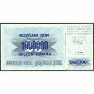 TWN - BOSNIA-HERZEGOVINA 35a1 - 1000000 1.000.000 Dinara 1.9.1993 Various Prefixes UNC - Bosnia And Herzegovina