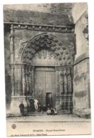 CPA 91 - ETAMPES (Essonne) - Portail Notre-Dame - Ed. Flizot (animée) - Etampes