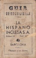 Guia Automovilistica-1933-La Hispano Inglesa, S.A.--7,5x12 - Programas