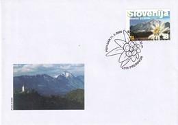 Slovenia Slowenien 2000 FDC Cover; Alpen-Edelweiß (Leontopodium Nivale Subsp. Alpinum) Edelweiss Mountains Berge Storzic - Pflanzen Und Botanik