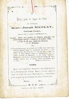 Faire-part Décès LIEGE 1810-1866 - Denis-Joseph NICOLAY - Fabricant D'armes - Avvisi Di Necrologio