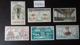 MONACO   526/531 - Unused Stamps