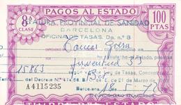 Pagos Al Estado--Clase 8ª--100 Ptas--nº A4115235--1972 - Fiscales