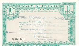 Pagos Al Estado--Clase 10ª--10 Ptas--nº 8 467633---1972 - Fiscales