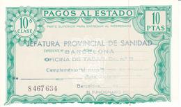 Pagos Al Estado--Clase 10ª--10 Ptas--nº 8 467634---1972 - Fiscales