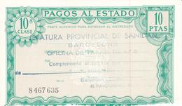 Pagos Al Estado--Clase 10ª--10 Ptas--nº 8 467635---1972 - Fiscales