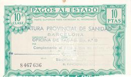 Pagos Al Estado--Clase 10ª--10 Ptas--nº 8 467636---1972 - Fiscales