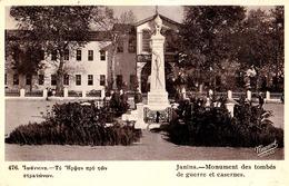 JANINA - EPIRUS / IOANNINA : MONUMENT DES TOMBÉS DE GUERRE Et CASERNES - N. KOURTIDES / ATHÈNES ~ 1920 - '925 (ad755) - Griechenland