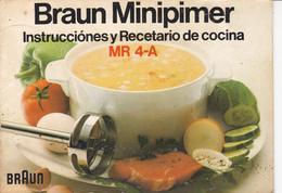 "Programa Y Recetario ""braun Minipimer""-1974 - Programas"