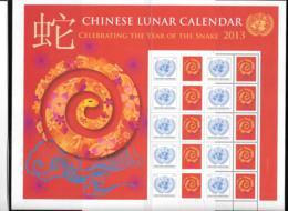 2013 - 1304 **MNH - Horoscope, Année Du Serpent - New York – UN Headquarters