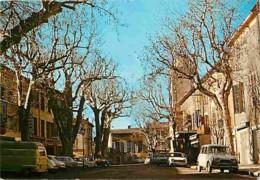 Automobiles - Voitures De Tourisme - Peyrolles En Provence - La Place Albert Laurant - Voir Scans Recto-Verso - Turismo