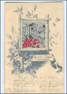 Y12177/ In Seide Gewebt  AK Vögel Nistkasten Schöne AK 1899  Krieger, Krefeld - Cartes Postales