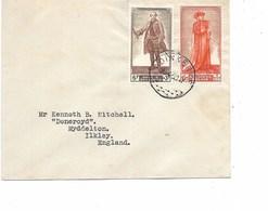 LE 0457. N° 818-821 ADINKERKE 15.4.50 S/Lettre V. Ikley (Angl.). TB - Belgium