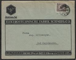 1923 Dt.Reich EF 338 Mi. 338 ILLUSTRIERTER UMSCHLAG DAIMON ELEKTROTECHNISCHE FABRIK EINWANDREI INFLA BERLIN - Covers & Documents