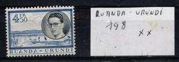 Voyage Royal Au Ruanda-Urundi N° 198 XX - Ruanda-Urundi