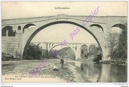 66. CERET . Les Deux Ponts . CPA Animée .  LE ROUSSILLON . - Ceret