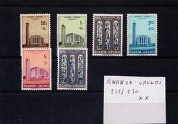Voyage Royal Au Ruanda-Urundi N° 225/230 XX - Ruanda-Urundi