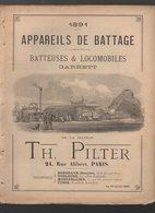 Paris Rue Alibert : Appareils De Battage, Batteuses Et Locomobiles PILTER 1891 (CAT 1602) - Publicités