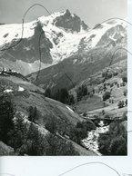 PHOTOGRAPHIE Cliché A IDENTIFIÉE. Montagne, Neige, Glacier , Village - Luoghi