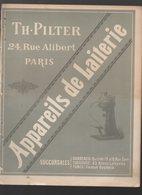 Paris Rue Alibert : PILTER Appareils De Laiterie 1890  (CAT 1603) - Reclame