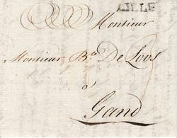 LAC Datée 1787 De Lille Vers Gand 3 De Port - 1714-1794 (Austrian Netherlands)
