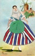 Carte Brodée     Costume De    MALLORCA - Costumes