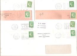 Marcophilie 190 Enveloppes Flammes Timbres Marianne Cheffer, Béquet, Decaris, Coq - 001 - Poststempel (Briefe)