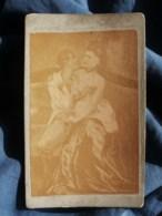 Photo CDV Pornographique, Illustration Scène Maison Close  Fin XIXe L451 - Belleza Feminina (...-1920)