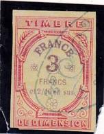 T.F De Dimension N°42 - Revenue Stamps