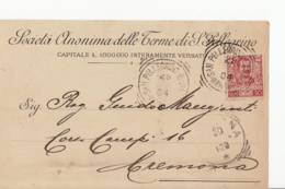 4479 BERGAMO TERME SAN PELLEGRINO - Storia Postale