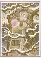 Elf - Brownie - Gnome Meeting An Owl - Lennart Helje - VERY RARE - Kerstmis