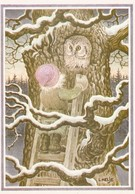Elf - Brownie - Gnome Meeting An Owl - Lennart Helje - VERY RARE - Altri