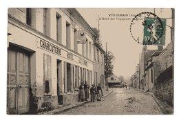 VIVIERES L HOTEL DES VOYAGEURS AVEC PERSONNAGES 1925 - Sonstige Gemeinden
