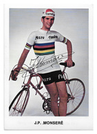 CARTE CYCLISME JEAN PIERRE MONSERE TEAM MARS 1971 - Cyclisme