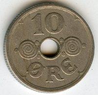Danemark Denmark 10 Ore 1936 N GJ KM 822.2 - Danimarca