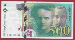 """500 Francs """"Pierre Et Marie Curie"""" 1994--VF/SUP--ALPH.G---Numéro-023983022 - 1992-2000 Last Series"""