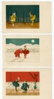 ILLUSTRATEUR - M. M. VIENNE - SERIE COMPLETE DE 6 CARTES - PIERROT ET COLOMBINE - EDITION 1900 - PRELUDE, IVRESSE, ... - Illustrators & Photographers