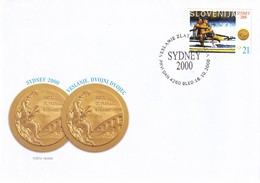 Slovenia Slovenie Slowenien 2000 FDC Cover: Olympic Games Sydney Rowing; Gold Medals Cop - Spik, - Sommer 2000: Sydney - Paralympics