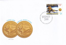 Slovenia Slovenie Slowenien 2000 FDC Cover: Olympic Games Sydney Rowing; Gold Medals Cop - Spik, RARE - Summer 2000: Sydney - Paralympic