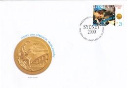 Slovenia Slovenie Slowenien 2000 Fdc Cover: Olympic Games Sydney Shooting; Gold Medal Rajmond Debevec - Summer 2000: Sydney - Paralympic