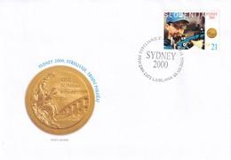 Slovenia Slovenie Slowenien 2000 Fdc Cover: Olympic Games Sydney Shooting; Gold Medal Rajmond Debevec RARE - Summer 2000: Sydney - Paralympic