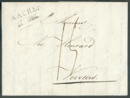 LAC D'AMSTERDAM Le 13 Décembre 1830 Vers Verviers. Suite à L'interruption Des Relations Postales Entre La Belgique Et Le - 1815-1830 (Dutch Period)