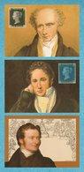 GREAT BRITAIN 1990 Penny Black Anniversary: Set Of 3 NPM Postcards MINT/UNUSED - 1952-.... (Elizabeth II)