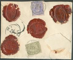 N°47/48 - 20 Centimes Olive + 25 Centimes Bleu S/rose, Obl. Sc BRUXELLES (LUX.) S/L. ASSURE Du 30 Janvier 1886 Pour Une - 1884-1891 Léopold II