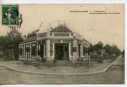 """1913. CPA 33 SOULAC SUR MER. """"TERMINUS"""" BUFFET RESTAURANT DE LA GARE  1907 TAXEE - Soulac-sur-Mer"""