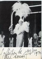 1914. CPM LA ROUE TOURNE. JOSEPHINE BAKER DEDICACEE 1975 - Artisti