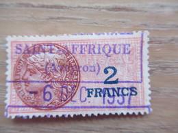 Aff 2fr Sur Timbre Fiscal Saint Affrique Aveyron 1957 - Fiscaux